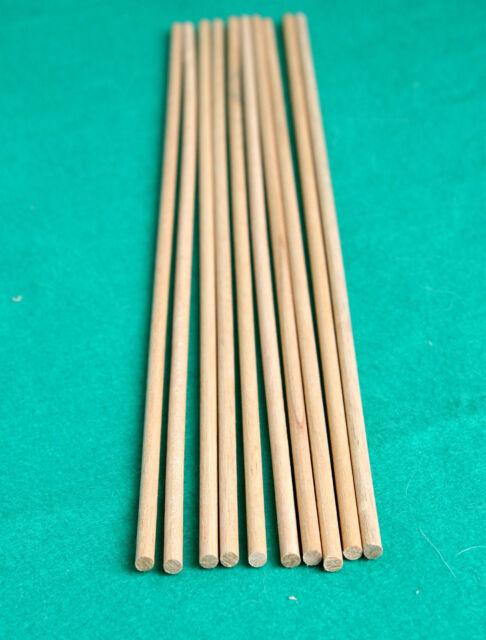 "2 x 9mm Diameter x 36/"" Long 3//8/"" Hardwood Dowel Tracked 48 UK Post"