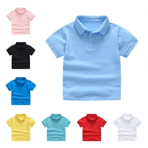 Casual Toddler Kids Baby Girls Boys Short Classic Solid T-shirt Tee Tops Clothes