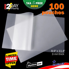 100pcs Clear 3mil Thermal Laminating Pouches Sheets 9 X 115 Letter Size Rounded