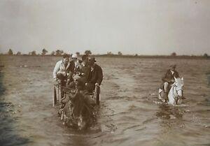 Photo-amateur-vintage-snapshot-vers-1940-1950-16-3-x-11-7-cm-chariots-eau