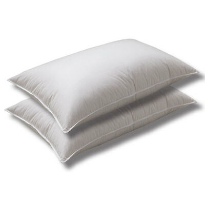 Logan and Mason HOTEL Pillows TWIN PACK 48 X 72cm Australian Made Cotton Casing