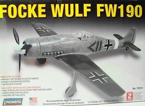 Model-Plane-Lindberg-1-72-Model-Kit-Focke-Wulf-FW190-Ages-10-Years-USA-1113