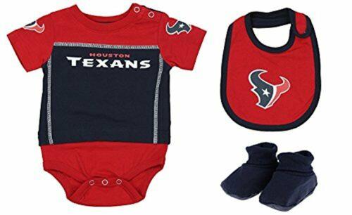 """NFL Infant Houston Texans /""""LIL/' Jersey/"""" 3 Piece Bodysuit Set"""