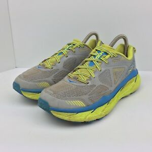 3be8a496a79 Hoka One One Challenger ATR 3 Blue Running Shoes Yellow Sneakers ...