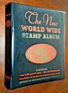 CatalinaStamps: 1965 Minkus World Wide Stamp Album w/1,158 Stamps, D375
