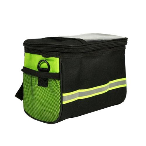Bike Bicycle Cycling Outdoor Front Basket Pannier Frame Tube Handlebar Bag ES