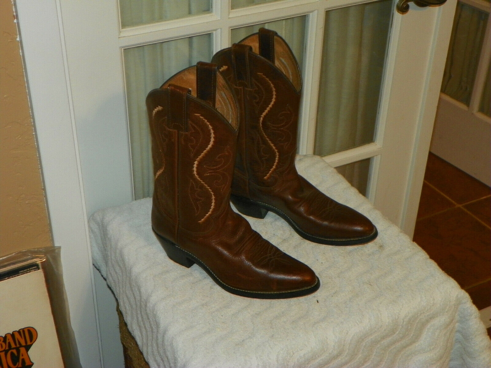 Justin L4937 SALTILLO Brown Leather Western Cowboy Boots Women's Size US 7 B