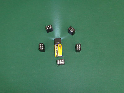 Five (5)  Push Button 9 V LED Flashlight Heads Tops Only(No Batteries)