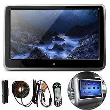 "10"" HD Digital TFT LCD Screen Car Headrest Monitor DVD/USB/SD Player IR/FM Game"