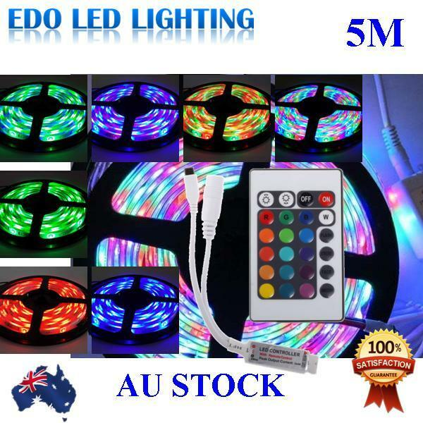 Waterproof 300 LEDS RGB 5M 3528 SMD LED Strip Light 12V + IR Controller