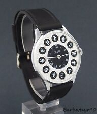 Large 1970's Sheffield Zodiac Astrology Horoscope Telephone Dial Novelty Watch