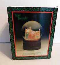 NOS The Velveteen Rabbit  Waterball Musical Snow Globe 1985 Trim Trends Foggy