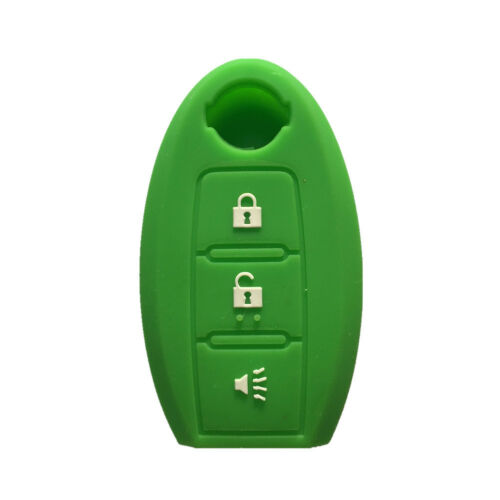 Green Silicone SMART Remote KEY cover case fit for NISSAN Murano 370Z 3 Buttons