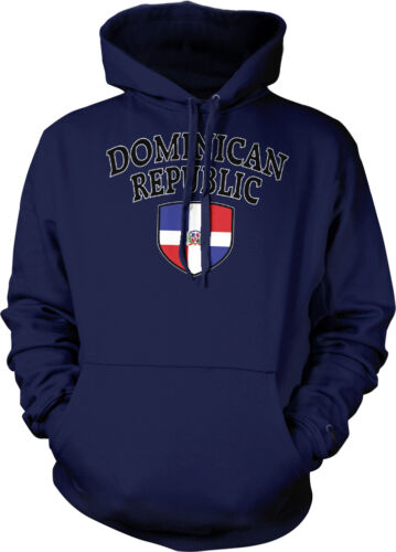 Dominican Republic Flag Crest National Soccer Football Pride Hoodie Pullover