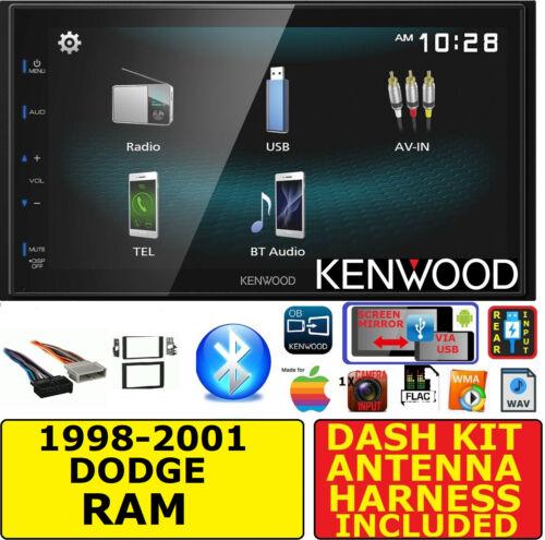 1998-2001 DODGE RAM JVC-KENWOOD BLUETOOTH USB AUX AM//FM CAR RADIO STEREO PACKAGE