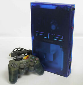 PS2-OCEAN-BLUE-Console-System-SCPH-37000-J1668549-Tested-Playstation-2-034-NTSC-J-034