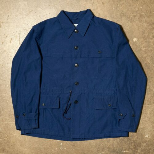 Vtg 70s European Chore Coat French Work Workwear U
