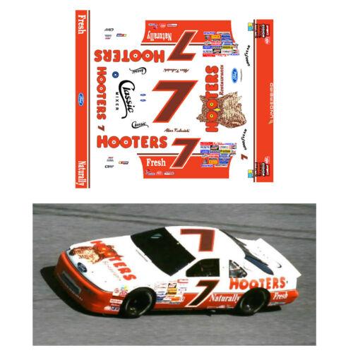 Alan Kulwicki 1992-93 #7 Hooters 1/64 scale decal AFX Tyco Lifelike Autoworld