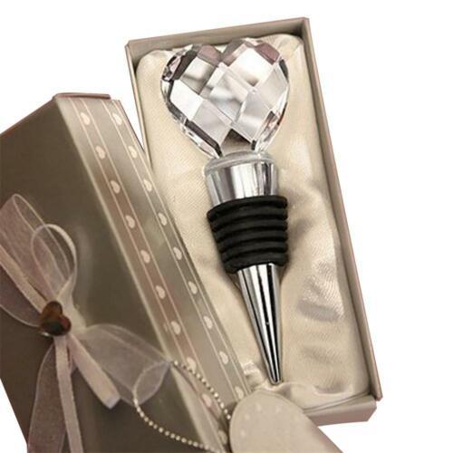 Crystal Diamond Shaped Rotwein Flaschenverschluss Twist Hochzeit Bevorzugungen G