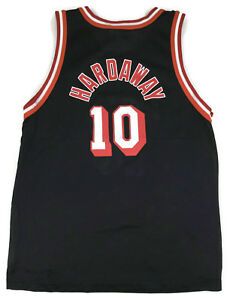 new concept f6e4d f3fcc Details about Rare Champion Tim Hardaway #10 Miami Heat Vintage Jersey sz L  14-16 Youth