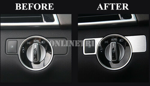 Inner Headlight Switch Button Cover For Benz E Class Coupe W207 C207 2009-2016