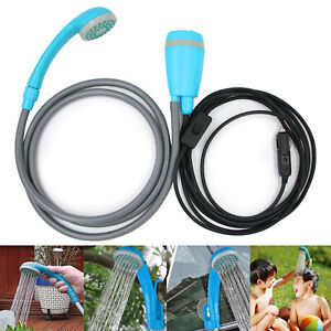 Portable Camping Shower USB Rechargeable Handheld Shower Headead L3F5