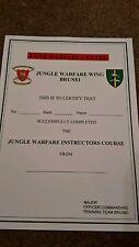 Jungle warfare military  certificate