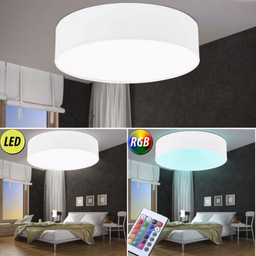 LED Decken Leuchten RGB Fernbedienung Wohn Schlaf Zimmer Textil Strahler dimmbar