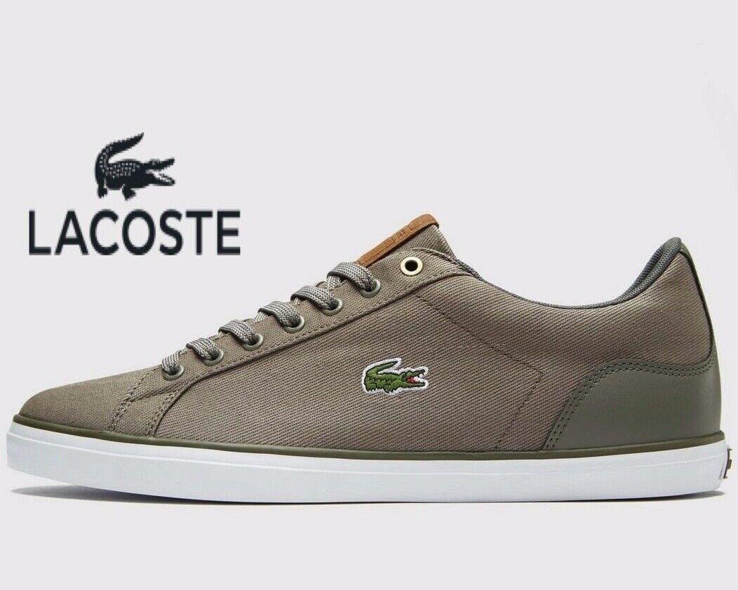 Genuine Lacoste LEROND 218 1 JD  ® ( Men Tallas UK 7 - 12  ) Khaki gris Canvas