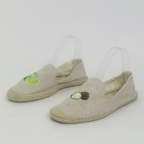 Soludos Lime & The Coconut Embroidered Espadrille