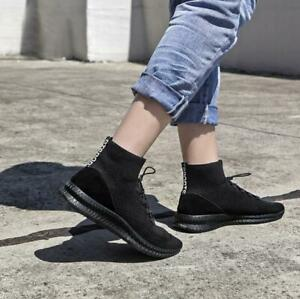 Mens Breathable High Tops Sock Sneakers