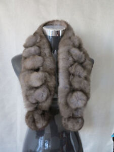 100% real rabbit fur scarf / fur collar /wrap/cape ship