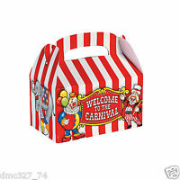 24 Carnival Big Top Tent Circus Birthday Party Favor Treat Loot Goody Boxes