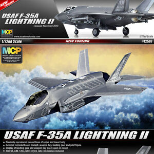 1-72-USAF-F-35A-LIGHTNING-II-ACADEMY-HOBBY-MODEL-KITS-12507-NEW-TOOLING