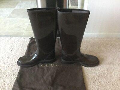 fb54eb50790 Gucci women s wingtip rain boots size 37