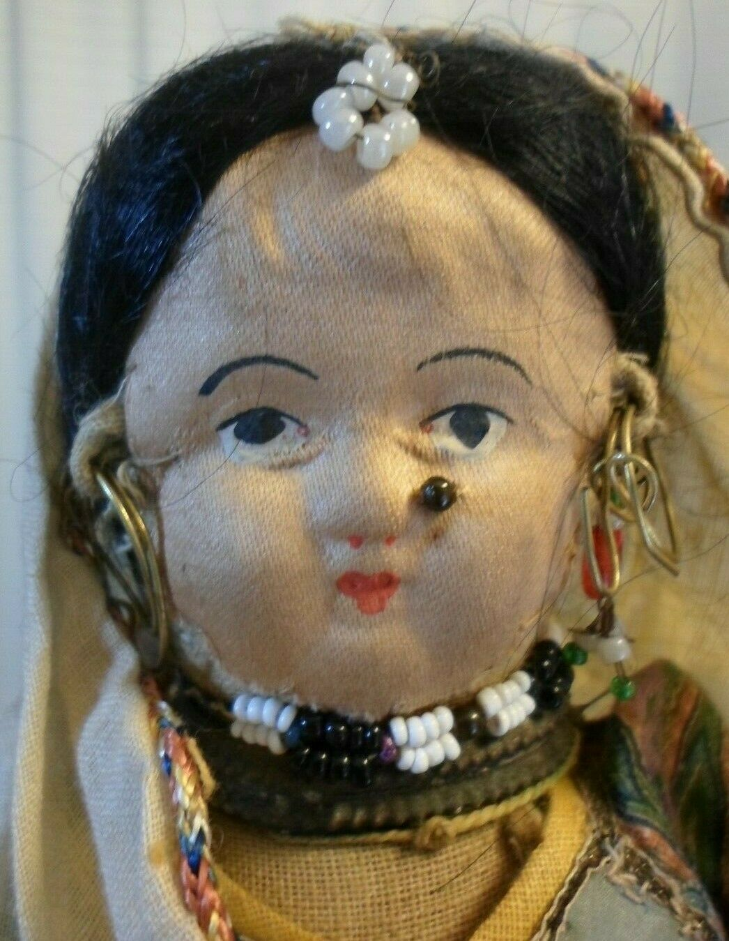 Antique India Village Frau & Baby CMS Mission 1900 Tagged OOAK Estate  Doll 6