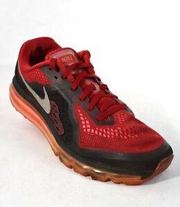 Nike Air Max 2014 Shoes 621077 601 Mens Sz 10.5 Red Reflect