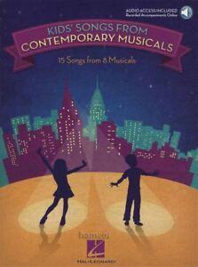 Brillant Kids Songs From Contemporary Comédies Musicales De Musique Vocale Livre Audio/-afficher Le Titre D'origine Toujours Acheter Bien