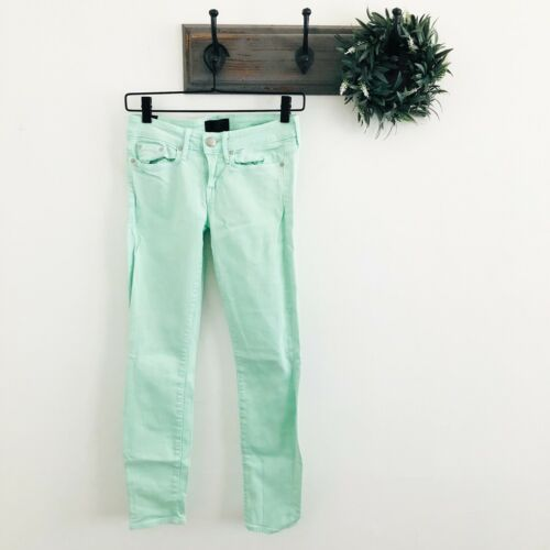 Vince Mint Green Ankle Skinny Jeans 25