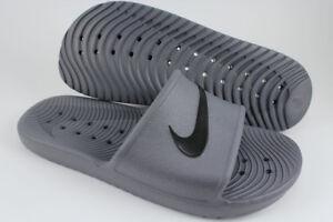 6fe669489f6e0 La foto se está cargando Nike-Kawa-ducha-gris-oscuro-Negro -Impermeable-Deporte-