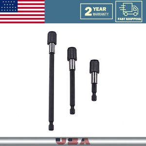 3PCS Hex Quick Release Screwdriver Electric Drill Bit Holder Extension Rod Tools