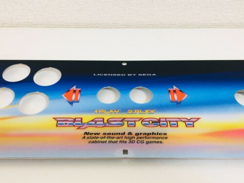 (Express)NEW Stainless Genuine Control Panel Blast City Arcade Candy Cabinet
