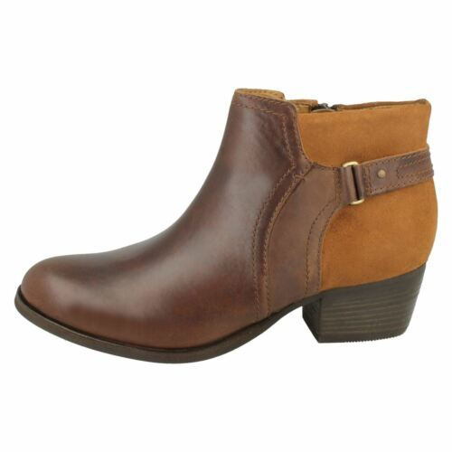 Lilac Tan Dark Maypearl brown Ankle Clarks Boots Ladies Leather qTAzZETw