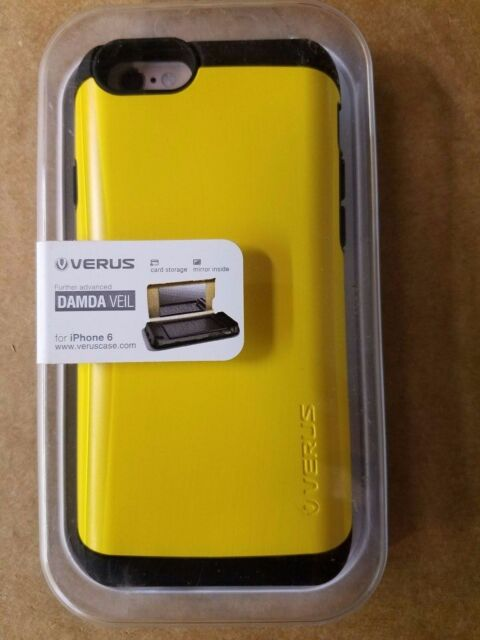 the latest ea6fc fb890 iPhone 6s Card Slot Wallet ID Case Verus Damda Slide Dual Layer Protection  Yellow