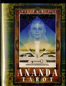 Ananda-Tarot-deutsch-Buch-und-Karten-in-einer-Box-rar-selten-Sammler-TOP-Zustand