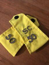 Fancy Dress. Obsolete Ex Police Film Prop Hi Viz Yellow Sliders For Epaulettes