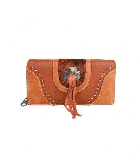 Genuine Cowhide Concho Cowhide Collection Western Ladies Wallet