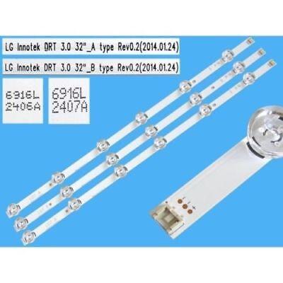 "LG tv bar strip LED LG Innotek DRT 3.0 32/"" rev0.2 type a 6916l-1974a 32lb5700"