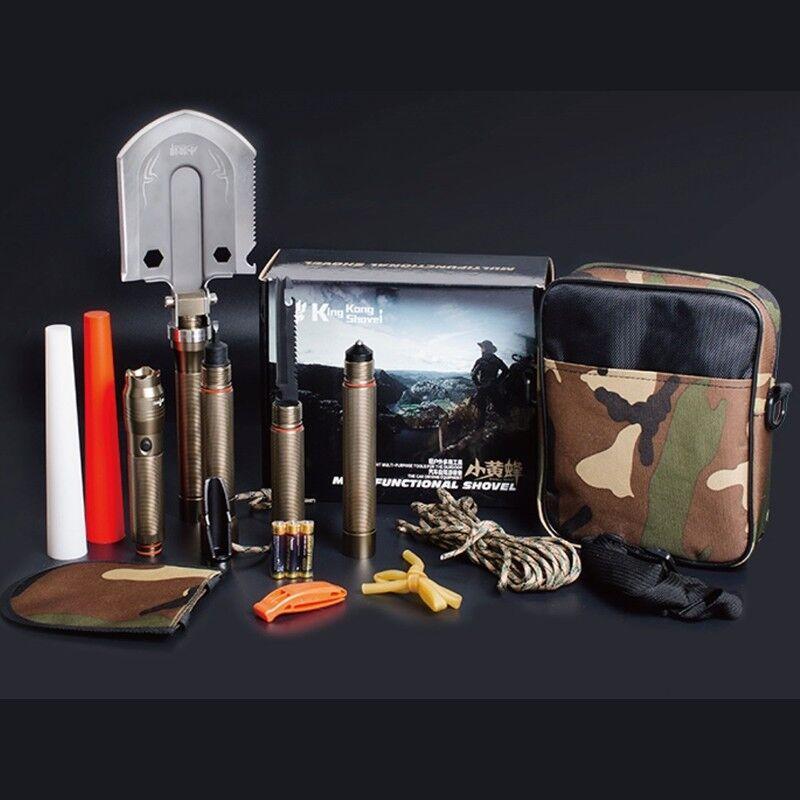 Utilidad militar pala plegable multi acampar al aire libre defensa propia supervivencia herramienta