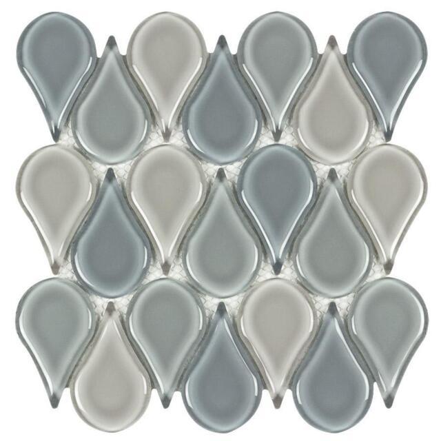 Modern Circular Beige Blue Glass Mosaic Tile Backsplash Kitchen Wall Mto0231 For Sale Online Ebay